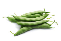 Fresh green beans. Bunch of fresh green beans  on white background Royalty Free Stock Image