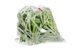 Fresh green beans in a bag Stock Photos