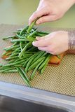 Fresh green beans Stock Image