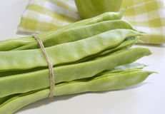 Fresh Green Beans on a table Royalty Free Stock Image