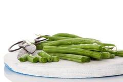 Fresh green beans. Royalty Free Stock Photos