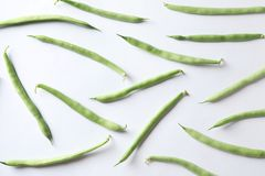 Fresh green beans. On white background stock images