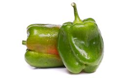 Fresh green bell pepper Stock Photos