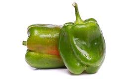 Fresh green bell pepper Stock Photos