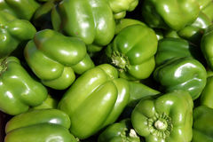 Fresh green bell pepper Stock Photo