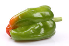 Fresh green bell pepper Royalty Free Stock Photos