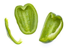 Fresh Green Bell Pepper Slices Royalty Free Stock Photography