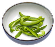 Fresh Green Bell Pepper Slices Stock Images