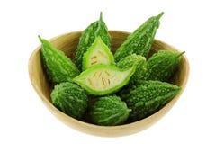 Fresh green Bitter Cucumber Royalty Free Stock Photography
