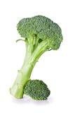 Fresh green broccoli. Fresh raw green broccoli closeup isolated on white background Royalty Free Stock Photo