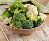 Fresh green broccoli and  cauliflower Royalty Free Stock Photography