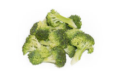 Fresh green broccoli isolated on white background Stock Images