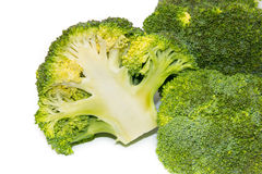 Fresh green broccoli isolated on white background Stock Photography