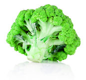 Fresh green broccoli isolated on white background. Fresh green broccoli isolated on a white background Royalty Free Stock Photography