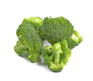 Fresh green broccoli isolated on white background. Stock Photo