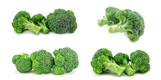 Fresh green broccoli isolated on white. Background Royalty Free Stock Images