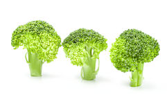 Fresh green broccoli isolated on a white background cutout. Fresh raw broccoli isolated on a white background cutout Stock Photos