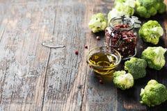 Fresh green broccoli and organic vegetables Stock Photography