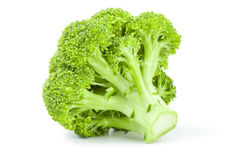 Fresh green broccoli on a white background. Clipping path. Broccoli cabbage isolated on a white background cutout Stock Image