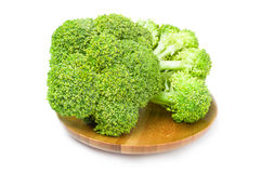 Fresh green broccoli on a white background. Clipping path. Fresh green broccoli isolated on a white background cutout Royalty Free Stock Photography