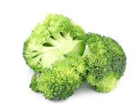 Fresh green broccoli on white. Organic food. Fresh green broccoli on white background. Organic food stock photo