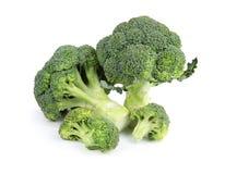Fresh green broccoli. Organic food. Fresh green broccoli on white background. Organic food stock image