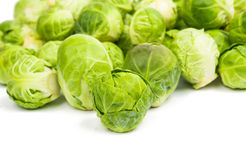 Fresh green Brussel Sprouts. Background or texture of fresh green Brussel Sprouts Royalty Free Stock Photography