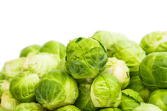 Fresh green Brussel Sprouts. Background or texture of fresh green Brussel Sprouts Royalty Free Stock Photo
