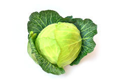Fresh green cabbage isolated on white background. Fresh green cabbage isolated on white Stock Images