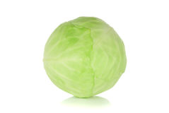 Fresh green cabbage. Over a white background Royalty Free Stock Photography