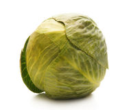 A fresh green cabbage  on white Royalty Free Stock Images