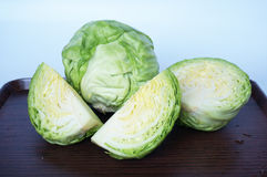 Fresh green cabbages Stock Images