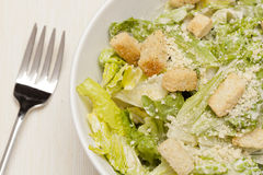 Fresh green Caeser Salad Royalty Free Stock Photos