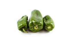 Fresh Green Capsicum Royalty Free Stock Photography