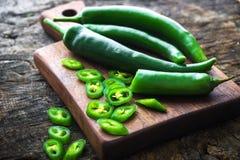 Fresh green chilli Stock Photo
