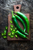 Fresh green chilli Stock Images