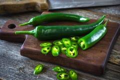 Fresh green chilli Stock Photos
