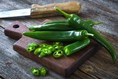 Fresh green chilli Stock Photography