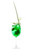 Fresh green coctail isolated on white Royalty Free Stock Photography