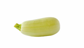 Fresh  green courgette isolated on white Stock Image