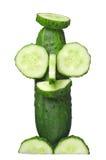 Fresh green cucumber Royalty Free Stock Image