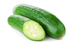 Fresh green cucumber Stock Photos