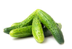 Fresh green cucumbers Royalty Free Stock Photos