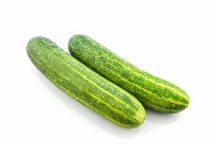 Fresh green cucumbers. Fresh green cucumbers on white  background Stock Photography