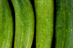Fresh green cucumbers on wooden background healthy raw vegetable food  Stock Photography