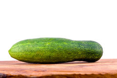 Fresh green cucumbers on wooden background healthy raw vegetable food isolated Stock Image