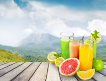 Fresh green drink Royalty Free Stock Photography