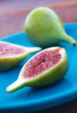 Fresh Green Figs Stock Photo