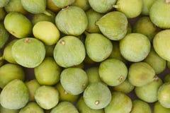 Fresh green figs detail Stock Photo