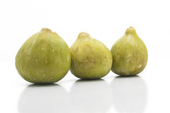 Fresh Green figs isolated Royalty Free Stock Photos